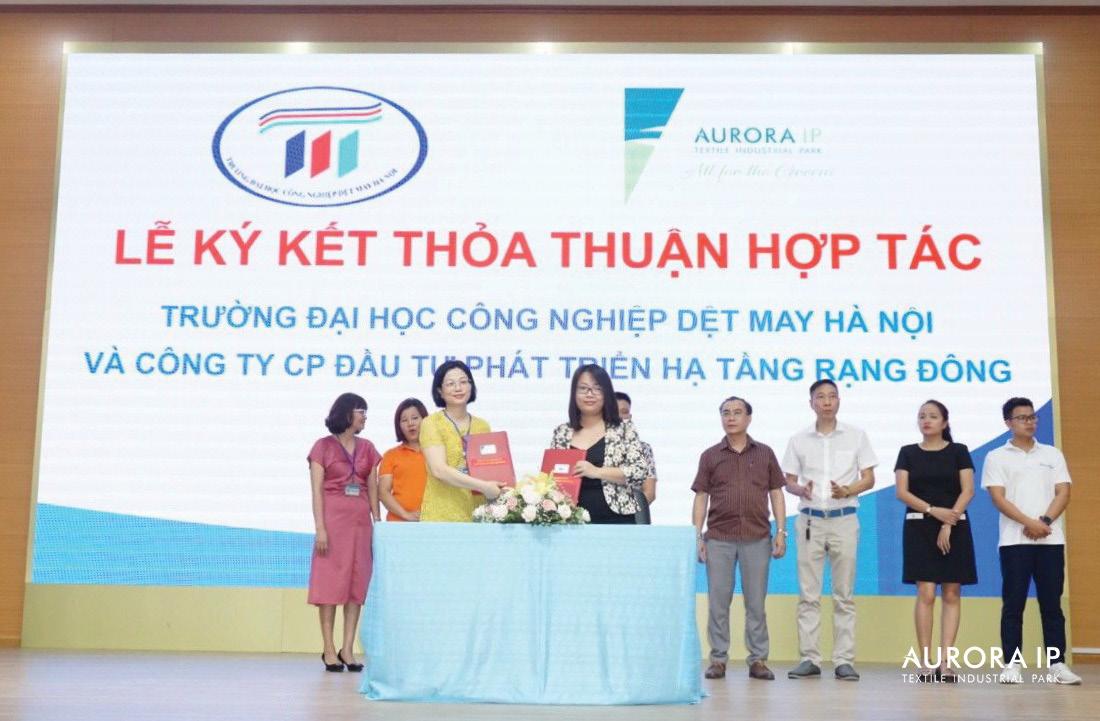 Aurora IP ký hợp tác với ĐH Công nghiệp Dệt may Hà Nội, chủ động nâng cao chất lượng nguồn nhân lực