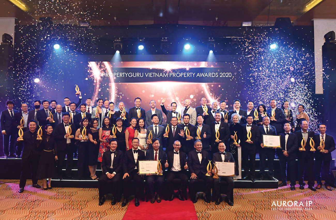 Rang Dong Textile Industrial Park (Aurora IP) accepts PropertyGuru Vietnam Property Awards 2020