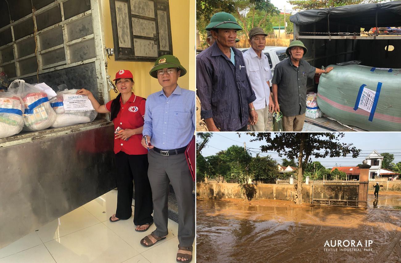 Aurora IP gửi người dân Quảng Bình nhận quà