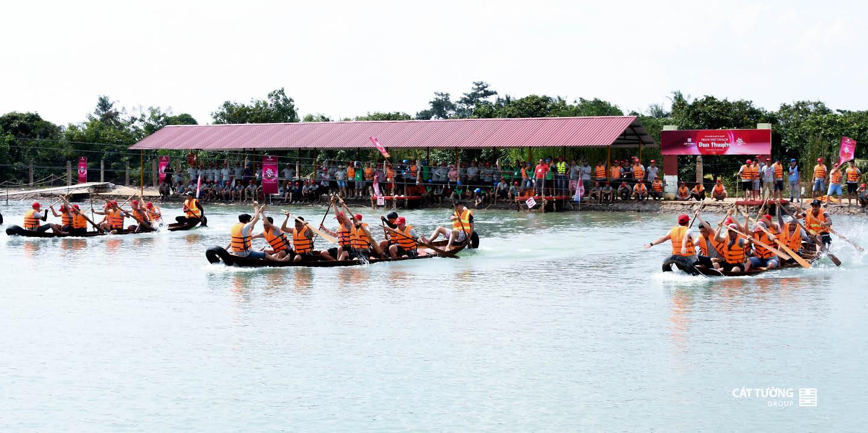 cuộc thi đua thuyền   Cát Tường Group Team Buidling 2019