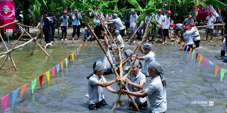 Xây cầu khỉ   Team Builidng Cát Tường Group 2019