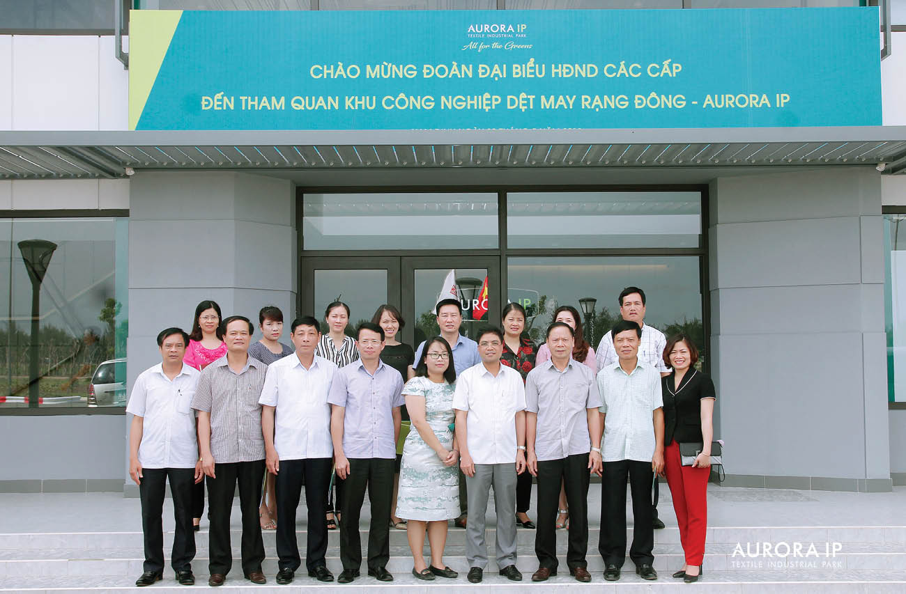 Rang Dong Textile Industrial Park - Aurora IP Welcome People's Councils at all levels of Nam Dinh Provine