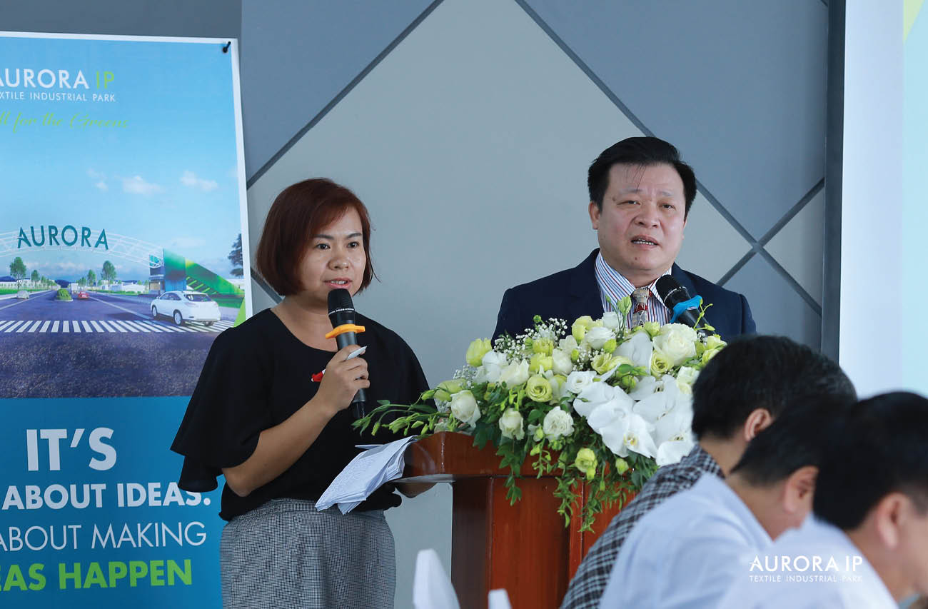 Taiwan - Viet Nam Textitle Investment promotion conference at Rang Dong Textile Industrial Park - Aurora IP