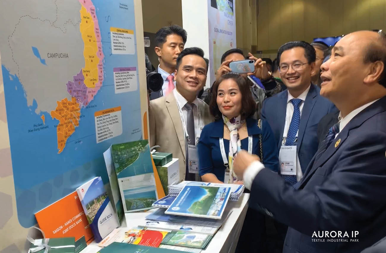 industrial parks at Vietnam national exhibition booth