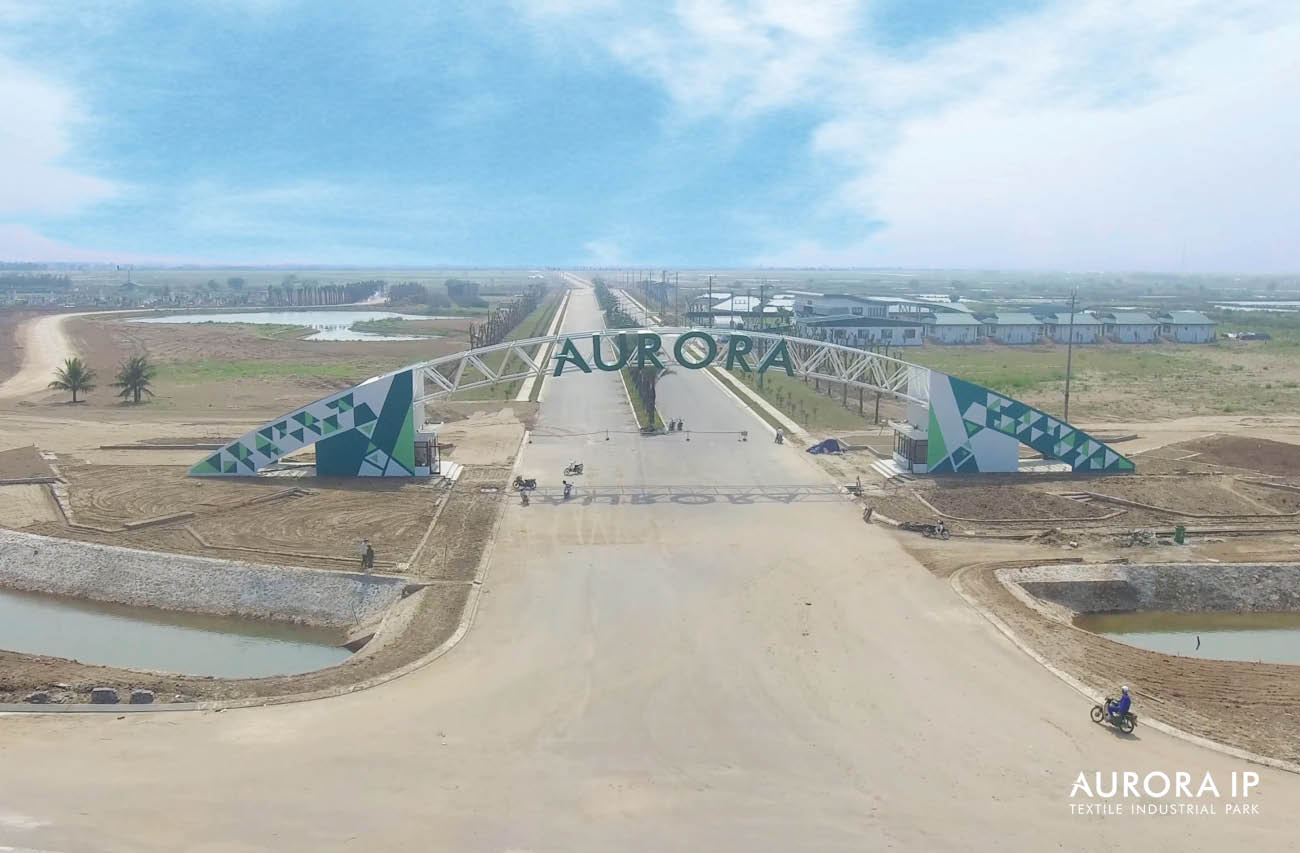 Hình ảnh thực tế hạ tầng Khu CN Dệt May Rạng Đông - Aurora IP