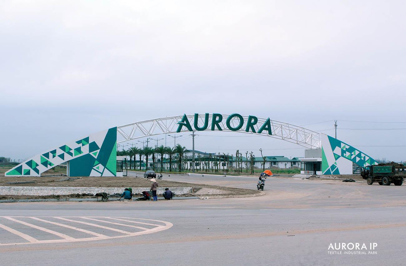 Cổng Khu Công Nghiệp Dệt May Rạng Đông | Aurora IP