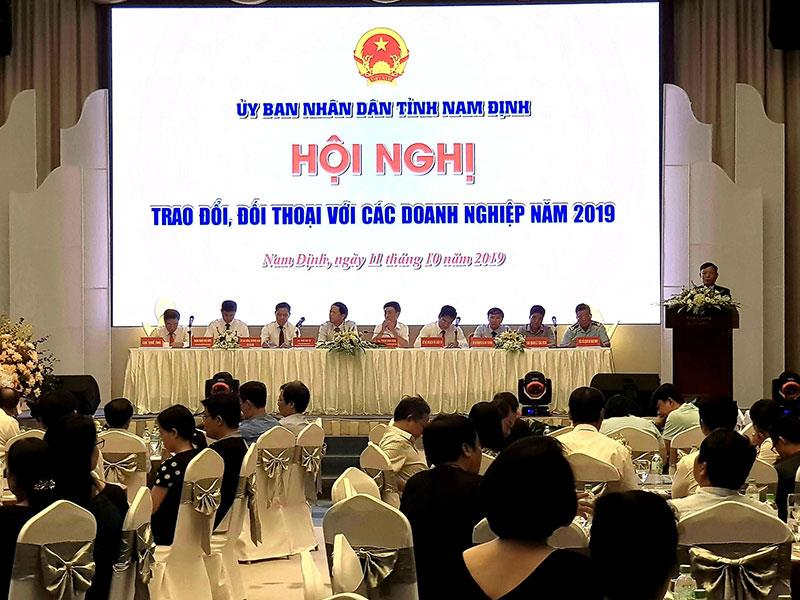 Chủ tịch Nam Định: Doanh nghiệp không cần chờ đến hội nghị, gặp mặt mới đề xuất ý kiến