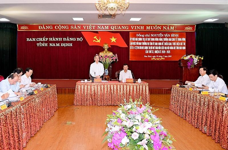 Toàn cảnh hội nghị ở Nam Định
