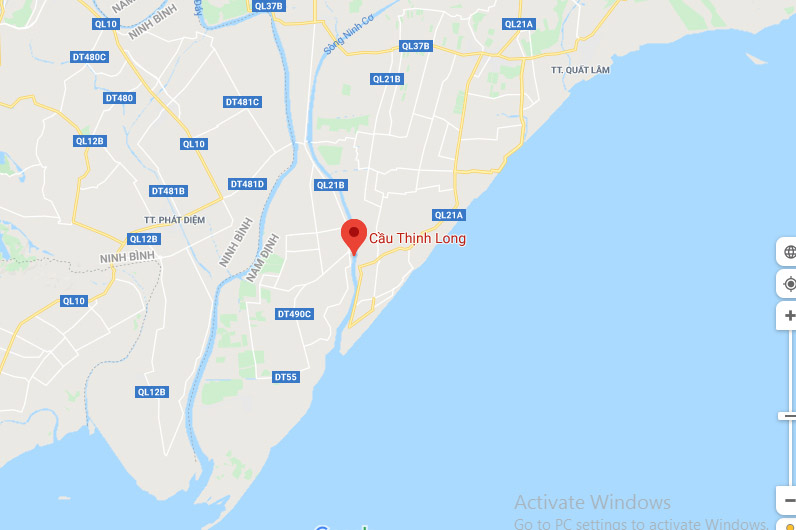 Vị trí cầu Thịnh Long Nam Định