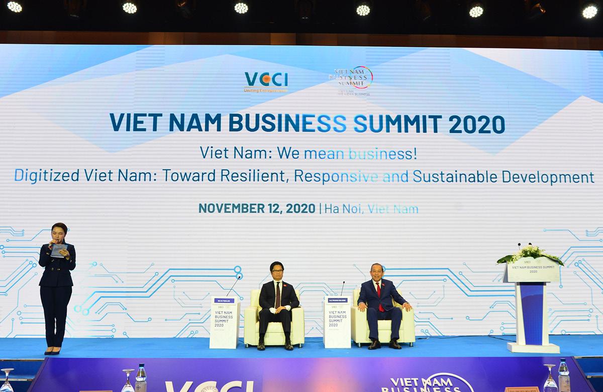 Phó Thủ tướng Trương Hoà Bình và Chủ tịch VCCI